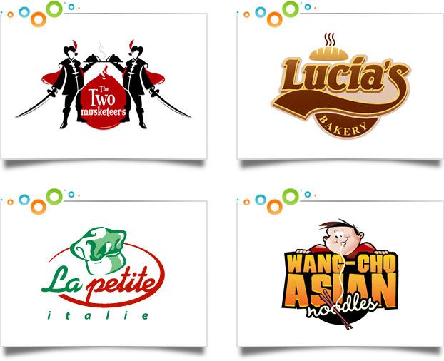 Restaurant logo design portfolio custom designs